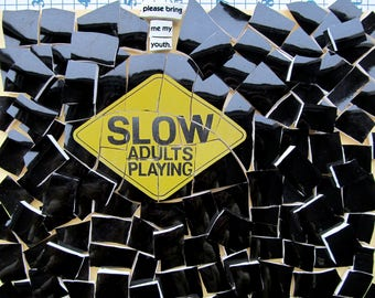 SLOW Adults Playing and Please Bring Me My Youth Mosaic Tile Set