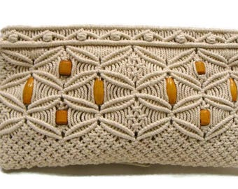 Vintage Macrame Clutch Vintage Beaded Clutch Purse Vintage Clutch Bags Vintage Beaded Clutch Retro Clutch Bag