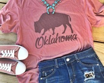 Oklahoma Buffalo Blush Tee