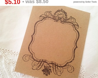 SALE Wedding Event and Party Place Cards Food Buffet Label Tags Kraft Frame Set of 10