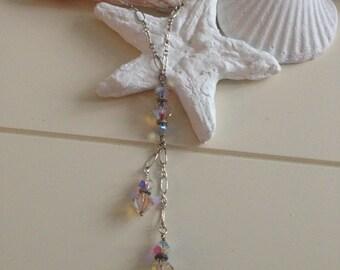 Swarovski Crystals, Sterling Chain