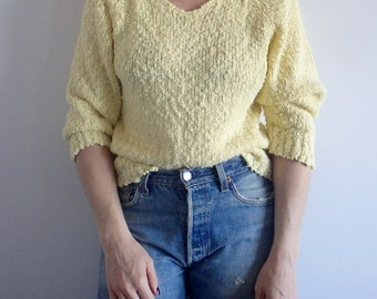 Womens Sweater Vintage Mellow Yellow