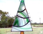 SALE! - Stained Glass Christmas Tree Suncatcher, Green Tree, Ornament, Xmas Tree,