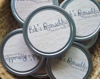 2oz tin Bek's Renewables Homemade Lotion