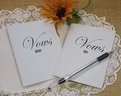 His and Her Vow Books Wedding Ceremony - bride and groom vows -  wedding book