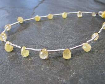 Natural Yellow Sapphire, full 7 inch strand, 4.25-6.25mm (w89)