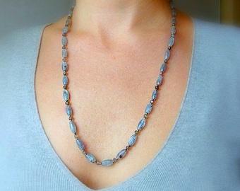 Kyanite Labradorite Necklace