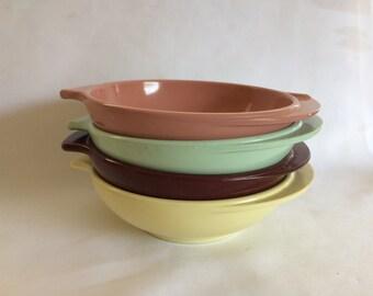 4 Vintage Boonton Winged Bowls