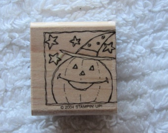 Stamp for Scrapbooking or Card Making- Halloween Pumpkin-Rubber Stamp