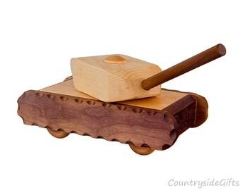Wooden Toy Tank – Hardwood