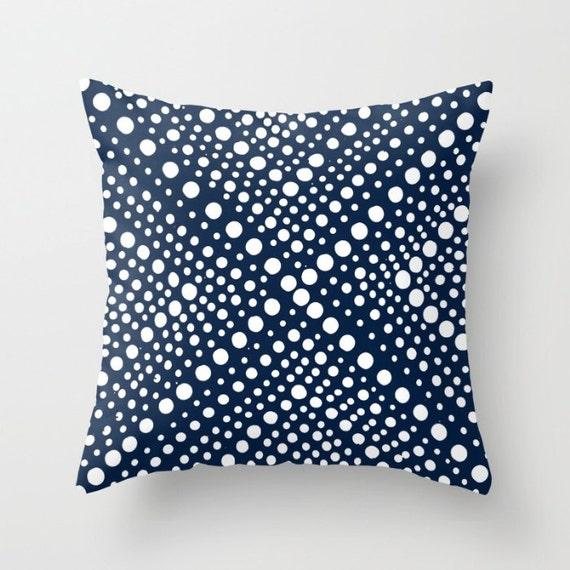 OUTDOOR Throw Pillow . Navy Blue Outdoor Pillow Navy and White Patio Cushion . Modern Geometric X Dot . Outdoor Bolster Pillow 16 18 20 inch