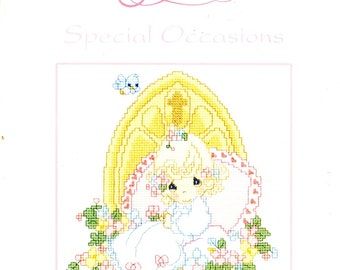 Precious Moments Special Occasions Baptism Confirmation Birth Praying Wedding Counted Cross Stitch Embroidery Craft Pattern Leaflet PM47