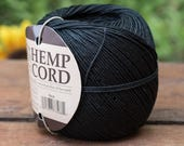 Black Hemp Cord,  1mm, 400  Feet Ball, Twine Cord, Black Hemp Twine,  Hemp Jewelry Cord -T93