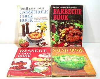 Better Homes and Gardens Cookbooks, Collection of Four, Casserole, Barbecue, Dessert, Salads