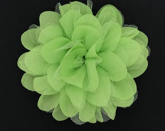 Burst Into Bloom Snap-In Dog Bows® Collar Attachment - Lime - Dog Collar Flower, Pet Flower, Dog Accessories, Pet Accessories