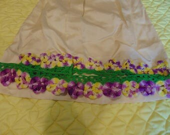 20 inch crochet pillow case end strips