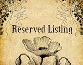 Reserved Listing For Anna