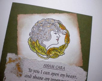 SOUL FRIEND ~ Mixed Media Greeting Card with Anam Cara verse