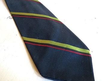 SALE Vintage BARRA of Italy Navy Silk Men Necktie