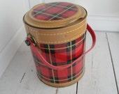 Skotch Kaddy Vintage Plaid Ice Bucket Cooler