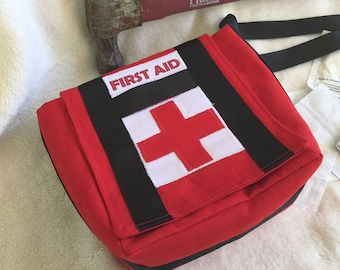 "Left 4 Dead Inspired Medkit!   Bright Red Pouch with Strap. 6"" Messenger bag."