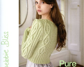 Pure Cotton and Stella -  Debbie Bliss Knitting Pattern Book with 2 in one - 16 women's designs, 8 for each featured yarn