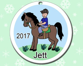 Horse Christmas Ornament Personalized Horse Dreams Design