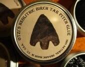 Birch Bark Pitch Otzi's Neolithic Tar Glue,  .71 oz.  SOFT * STICKY  20 grams