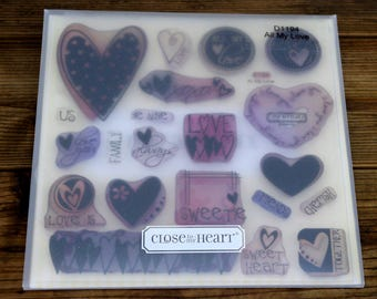 Close to My Heart Acrylic Stamp Set All My Love, D1194