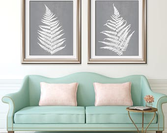 Ferns of Tuscany (Series B2) Set of 2 - Art Prints (Featured in Flint) Nature Woodland Inspired