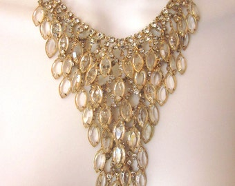 Juliana Crystal Bib Necklace Juliana Delizza and Elster Jewelry Bridal Necklace