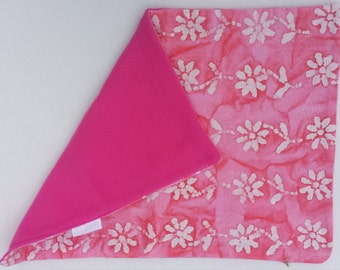 Baby Changing Pad Pink w/ Flowers and Fleece