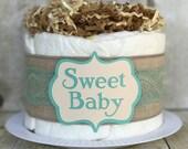The Shabby Chic Mini Diaper Cake