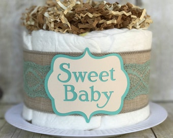 The Shabby Chic Mini Diaper Cake
