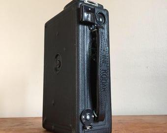 Antique 1920s Cine-Kodak Model B Movie Camera with Leather Case.