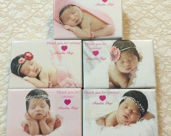 2x3 Custom Magnets of Your Child's Picture for Christening, Baptismal, Dedication or Birthdays- 60 pieces