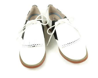 White Golf Shoe Kilties, Golf Accessories, Gifts for Golfers, 1950s Fashion, Shoe Tongue, Shoe Decorations, Retro Style, Swing Dance