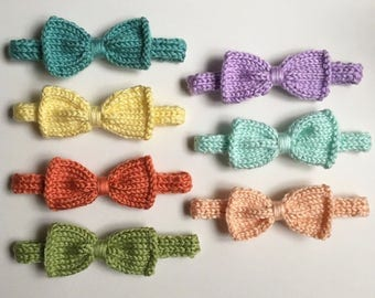 Knit Bow Headband (One) - choose size and color