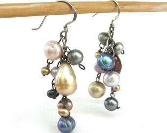vintage ear wear   ...     asymmetrical pearl earrings  ...   freshwater dangle pearl earrings