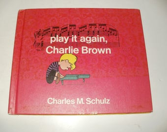 Vintage 1971 Book-Play it Again Charlie Brown by Charles M.Schulz-Art Comics Collectible Cartoons