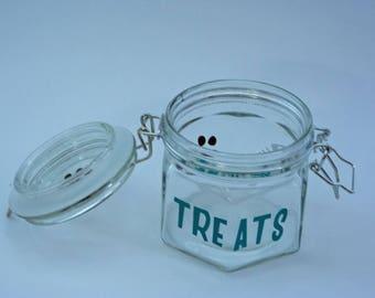 Cat or Dog Glass Treat Jars