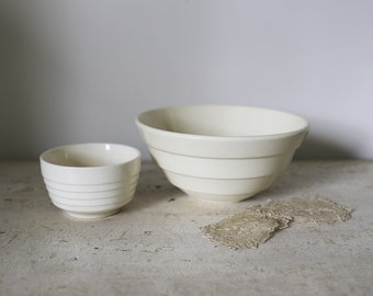 ribbed ivory bowls