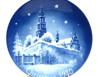 Paulite Monastery Poland Christmas 1980 Retsch Collector Plate Vintage 1980s Mongomery Ward Exclusive Collection Plate
