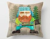Lumberjack Decor Pillow Cover, Boys Room Bedding, Holiday Decor, Boys Throw Pillow, Woodland Nursery, Woodsman Pillow, Modern Kids Decor