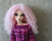 Cotton Candy Pink  mohair wig for Minifee / MSD