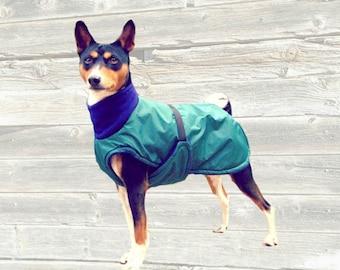 Basenji Winter Coat, custom made with tummy panel for your dog