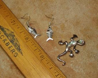 925 Silver Fish Earrings