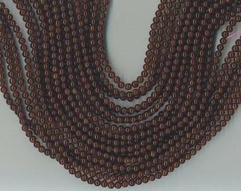 "15.5"" Strand 4mm Round Deep Red Garnet Beads"