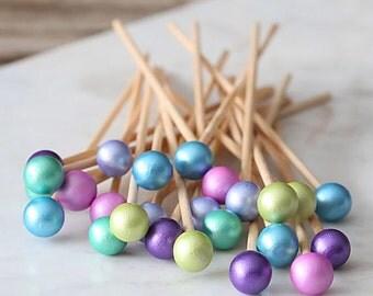 Under the Sea Party Lollipop Sticks, Under the Sea Cake Pops Sticks, Rock Candy Sticks, Dessert Skewers, Candy Kabob Sticks, Mermaid Party