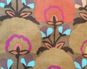 Kaffe Fassett rare, OOP, Fan Flower ocher, rare, vhtf. By the half yard, floral fabric, gold